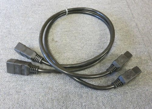 2 x Fujitsu A3C40063776 C19 To C20 Powercord Power Cable 16A 1M